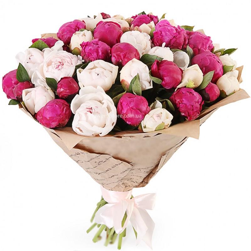 Bouquet of 31 peonies \