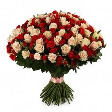 101 роза - микс Мирабель и Талея