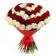 101 роза - Букет люблю
