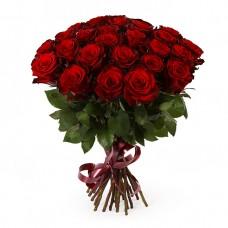 25 красных роз - сорт Гран-При