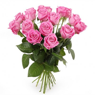 букет их 11 розовых роз - сорт Аква