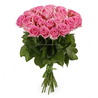 букет их 25 розовых роз - сорт Аква