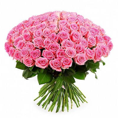 букет их 101 розовой розы - сорт Аква