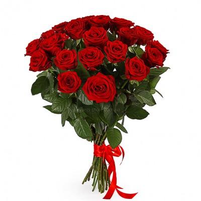 Букет красных роз сорт Гран-при 21 шт