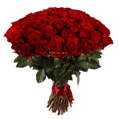 Букет 51 красная роза - Кения