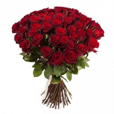 Букет 51 красная роза - сорт Гран-При