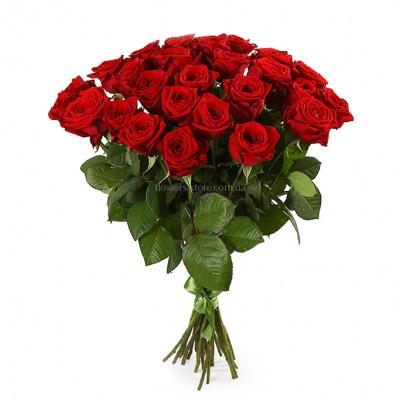 Букет красных роз сорт Престиж 25 шт