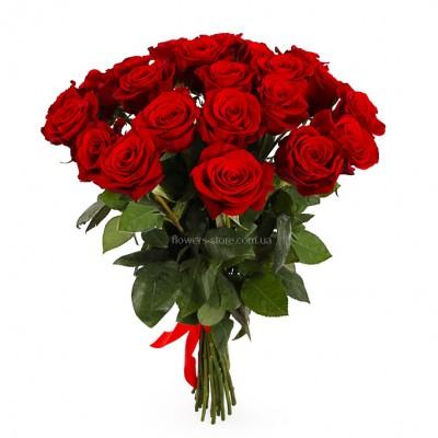Букет красных роз сорт Фридом 25 шт