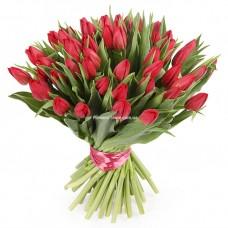 51 красный тюльпан - Букет Люблю