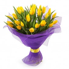 25 желтых тюльпанов - солнце